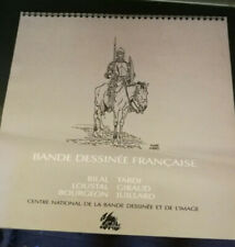 CALENDRIER 1990 DE LA BANDE DESSINEE FRANCAISE LOUSTAL TARDI BILAL GIRAUD