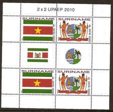 Surinam / Suriname 2010 UPAEP flag arm indian MNH sheet