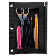Advantus Binder Pencil Pouch Rectangular 3 X Holes Vinyl 1each Black