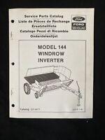 New Holland Service Parts Catalog 144 Windrow Inverter *1296