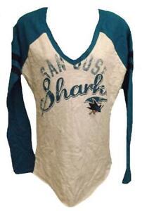 New San Jose Sharks Womens Sizes S-M-L-XL G-III Long Sleeve Shirt $30