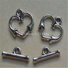 15set Tibetan Silver Toggle Clasps For Necklace Bracelet Clasp accessories PL574