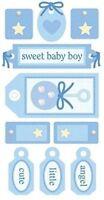 Sandylion Essentials 3d Stickers - Baby Boy Tags