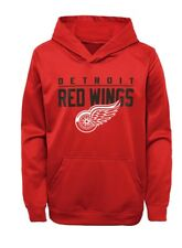 NHL Youth Detroit Red Wings Pacesetter Red Pullover Hoodie size L