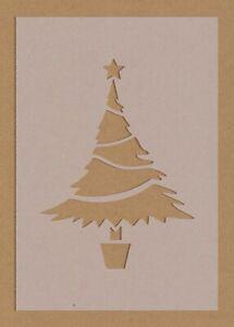 Christmas Tree 1 Stencil Decorations Festive Craft Card Making