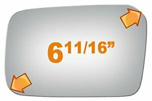 New Flat Driver Side Manual Replacement Mirror Glass For 86-89 Acura Integra
