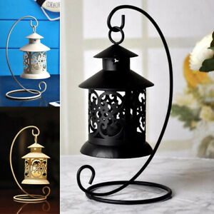 HOT SALES!!! New Arrival Hanging Hollow Candle Holder Stand Antique Moroccan Lan