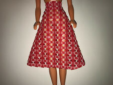 Red white perforated skirt fits Barbie Sindy Fleur