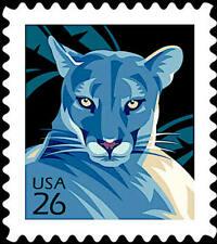 20 FLORIDA PANTHER STAMPS: Panthers Mountain Lion Cougar Puma Endangered Species