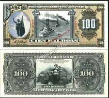 """NEW PANAMA LARGE SIZE """"SERIES OF 1918A"""" 100 BALBOA FANTASY ART NOTE BY REED BNC!"""