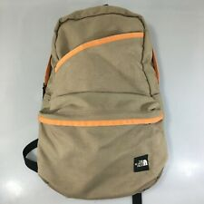 The North Face Tan Orange Nylon Canvas Daypack Backpack