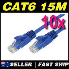 10 x 15m Blue Cat 6 Cat6 1000Mbps  RJ45 Ethernet Network LAN Patch Cable
