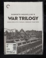 Roberto Rossellinis War Trilogy (DVD, 2010, 3-Disc Set, Criterion Collection)