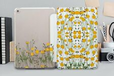 """Floral Case For iPad Pro 12.9 11"""" 2018 Yellow Flowers iPad Air 3 2019 Mini 3 4 5"""