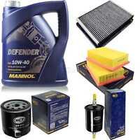 Ölwechsel Set MANNOL 5L Defender 10W-40 Motoröl + SCT Filter SET KIT 10752936