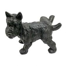 Cast Iron Scottish Terrier Peeing Bookend Doorstop Animal Dog Canine Statue