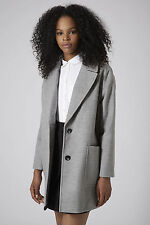 Topshop Button Knee Length Casual Coats & Jackets for Women
