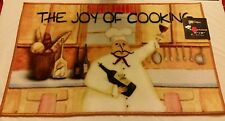 "FAT CHEF NYLON KITCHEN RUG (non skid latex back) (18"" x 30""), JOY OF COOKING"