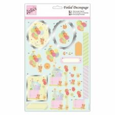 ANITAS FOILED DECOUPAGE CHAMPAGNE /& ROSES TOPPERS FOR CARDS /& CRAFTS