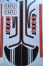 JAWA CZ 350 STICKER SET CEZET STICKER SET IN BLACK