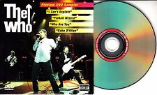 THE WHO Live At The Royal Albert Hall Preview Sampler US 4-track promo only DVD