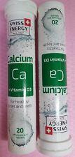 Sweet vitamins Swiss Energy Calcium №20 x 2 = 40pcs. effervescent Dr.Frei