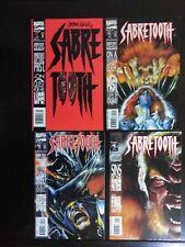 Marvel Comics Sabretooth Mini Series#1 signed by Larry Hama Lot of 4 Comics