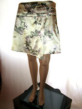 MOTIVI Designer Womens Business Formal Tailored Satin Floral Skirt sz 16 XL AG72