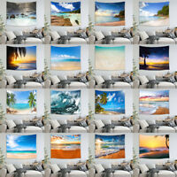 Beach Scenery Wall Hanging Tapestry DIY Home Decor Polyester Bedspread Cover New