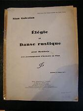 """""""Partition Elégie et danse rustique pour Hautbois Stan Golestan 1938"""""""
