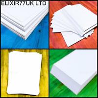 A4 A5 A6 WHITE CARD BLANKS CRAFT HOBBY WEDDING DECOUPAGE STOCK PAPER 120- 300gsm