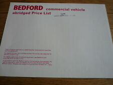 BEDFORD VANS TRUCKS AND BUSES  PRICE LIST  BROCHURE OCT.1968.jm
