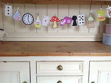 Alice In Wonderland hand crafted QUIRKY bunting ~ Tea Party Decoration ~  Prop
