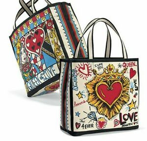 NEW in Bag NWT Brighton QUEEN OF LOVE Canvas Shopper Tote Beach Bag MSRP $125