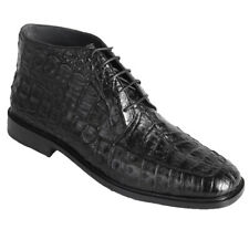 Men's Los Altos Genuine Caiman Belly Dress Ankle Boots Leather Sole