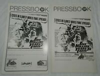 2 Slightly Different Movie Pressbooks for Five Million Years to Earth, 1967