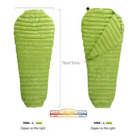 AEGISMAX Mummy Goose Down Sleeping Bag Outdoor 3 Season Urltra-Light 11 Degree