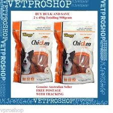 Wanpy Chicken Jerky Strips 2 x 454g Total 908g Treats for Dogs