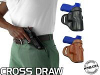 OWB Open Top Leather CROSS DRAW Holster Fits Ruger Security-9