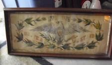 Original 1876 US Centennial American Eagle Needlework Framed