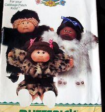 "Cabbage Patch Kids doll clothes pattern FUR COAT Hat 16"" Jacket"