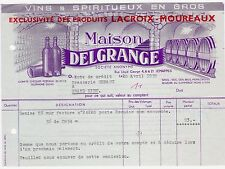 LETTERHEAD BILLHEAD FRENCH WINES & SPIRITS MAISON DELGRANGE