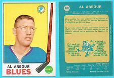 1969-70 O-Pee-Chee Al Arbour #178 OPC Card RAZOR SHARP
