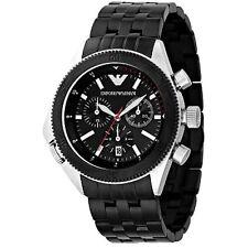 Nuevo Emporio Armani Ar0547 Acero Para Hombre Cronógrafo Reloj - 2 Año De Garantía