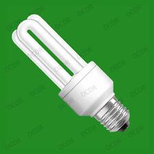 2x 11W Low Energy Power Saving CFL Stick Light Bulbs; E27 Screw ES Value Lamps