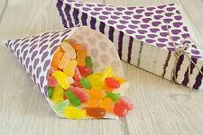 50 Papiertüten Spitztüten Papierspitztüten CandyBar Bonbontüten 19 cm lila