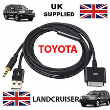 TOYOTA LAND CRUISER iPhone, iPod USB & Aux 3.5mm Cable Replacement in black