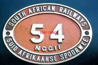PHOTO  SOUTH AFRICAN RAILWAYS - NUMBER PLATE OF 2' GAUGE LOCO NO NGG11 CLASS 2-6