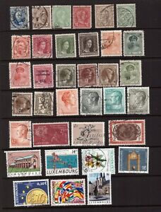 Luxembourg used stamps selection
