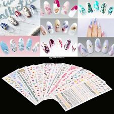12 Blatt Nail Art Design Wasser Transfer Nägel Sticker bunte Nägel Wraps B98B